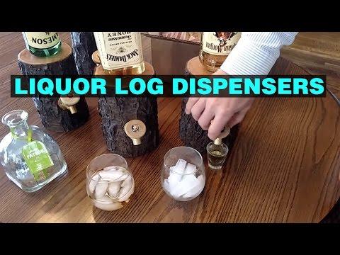 Liguor Log Dispenser - Booze Dispenser Made From Real Logs