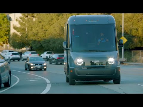 Amazon's custom electric delivery vehicles hit the road in LA