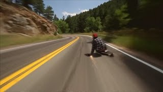 Skateboarder rides at 112km per hour