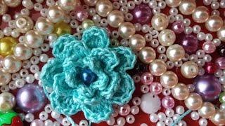 Видео-урок по вязанию декоративного цветочка