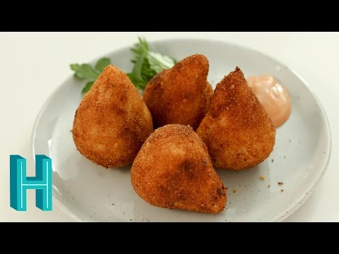 How to Make Coxinha! Brazilian Chicken Croquettes |  Hilah Cooking