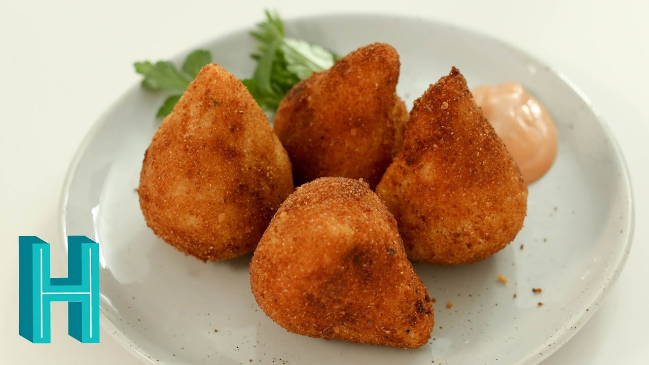 How to make coxinha brazilian chicken croquettes hilah cooking how to make coxinha brazilian chicken croquettes hilah cooking youtube forumfinder Images