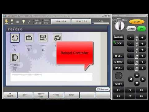 how to change the denso rc8 robot controller language to