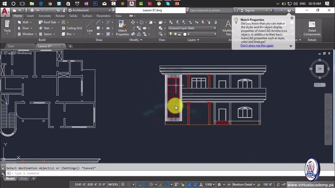 How To Making Elevation In Autocad House Elevation