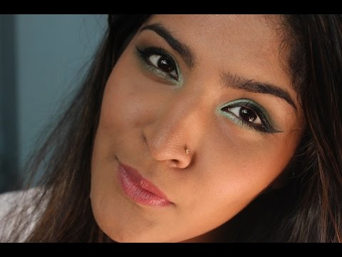 full makeup face indian. green smokey eye tutorial | indian drugstore full makeup - youtube face o