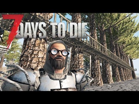 EPIC CATWALK | Let's Play 7 Days to Die Part 20 | Base Building Design | Alpha 15 Gameplay