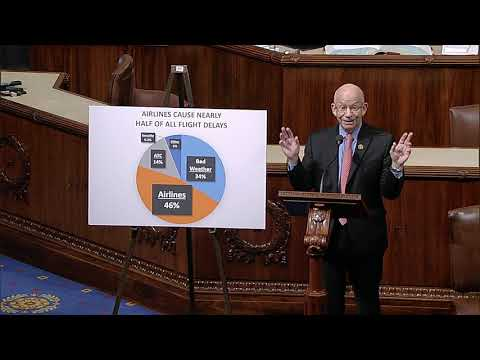 Ranking Member DeFazio speaks on the House floor about causes of flight delays