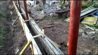 Забор. Заливка бетона в ленточную опалубку(, 2014-08-23T17:38:43.000Z)