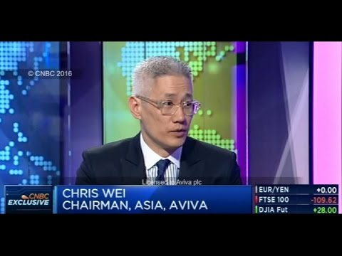 CNBC Asia Pacific interviews Aviva's Chris Wei about 2015 full year results