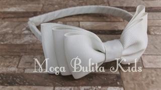Arco com laço em camada por Janaína Gonçalves Moça Bulita Kids