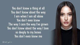 You Don't Even Know Me - Faouzia (Lyrics) 🎵