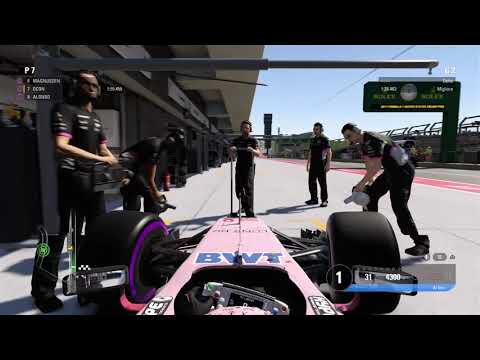 F1 2017 PS4 | Championship Mode with Esteban Ocon (Force India) | USA Grand Prix | Q1