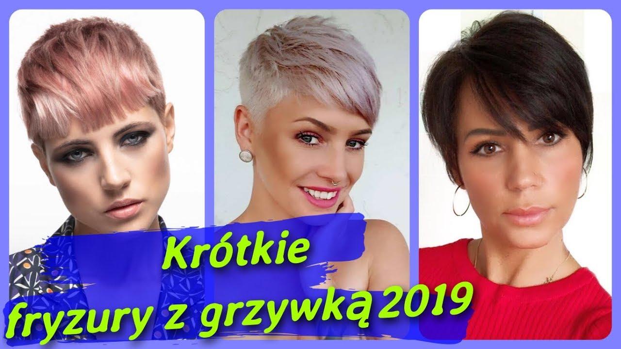 Top 20 Modne Krótkie Fryzury Damskie Z Grzywką 2019 Youtube