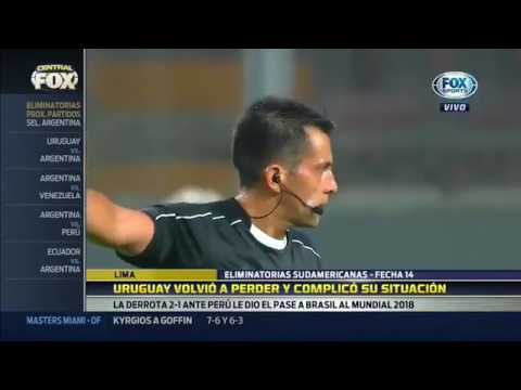 Perú 2 vs Uruguay 1 Eliminatorias Rusia 2018