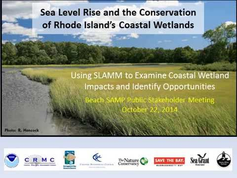 Presentation: Sea Level Rise and the Conservation of Rhode Island's Coastal Wetlands