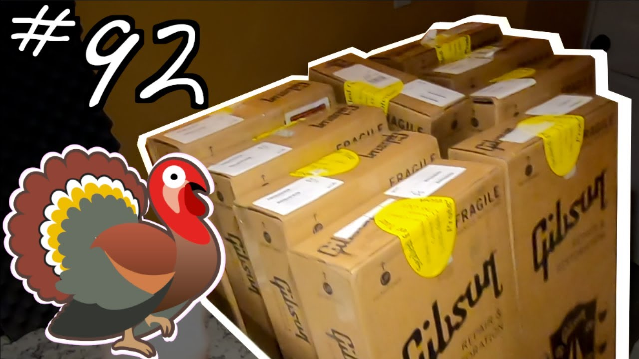 MASSIVE Thanksgiving Unboxing Feast! | Trogly's Unboxing Guitars Vlog #92 | Gibson Reverb Shop