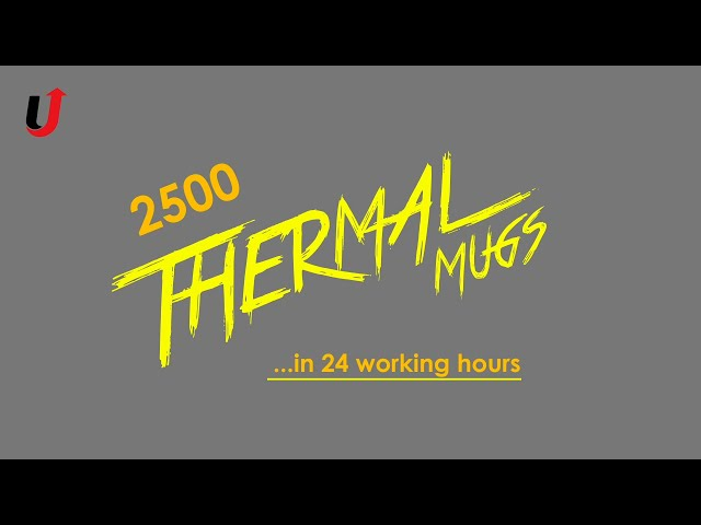How to Print 2500 Thermal Mugs In 24 Hours | Production Printing | Best Printing Method Of All Time