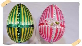 jajko wielkanocne ze wstążki  🐣 jak wykonać 🐣 krok po kroku 🐣 32