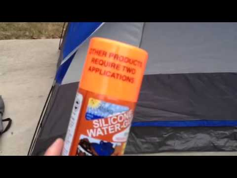 & How To Waterproof Spray A Camping Tent - YouTube