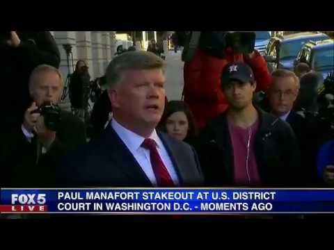 Paul Manafort stakeout at U.S. District Court in Washington