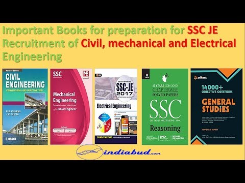 Best Books for Preparation of SSC JE Exam (Civil, Mechanical and Electrical)