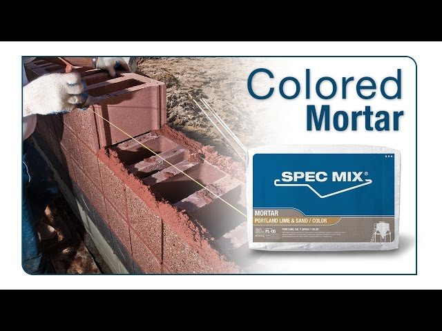 SPEC MIX® Colored Mortar