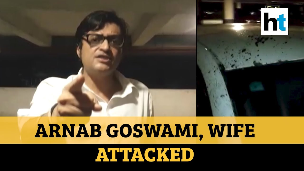 Watch: Arnab Goswami, wife attacked in Mumbai; 2 arrested