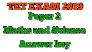 TET exam paper 2 maths and science answer key | 5 minute maths