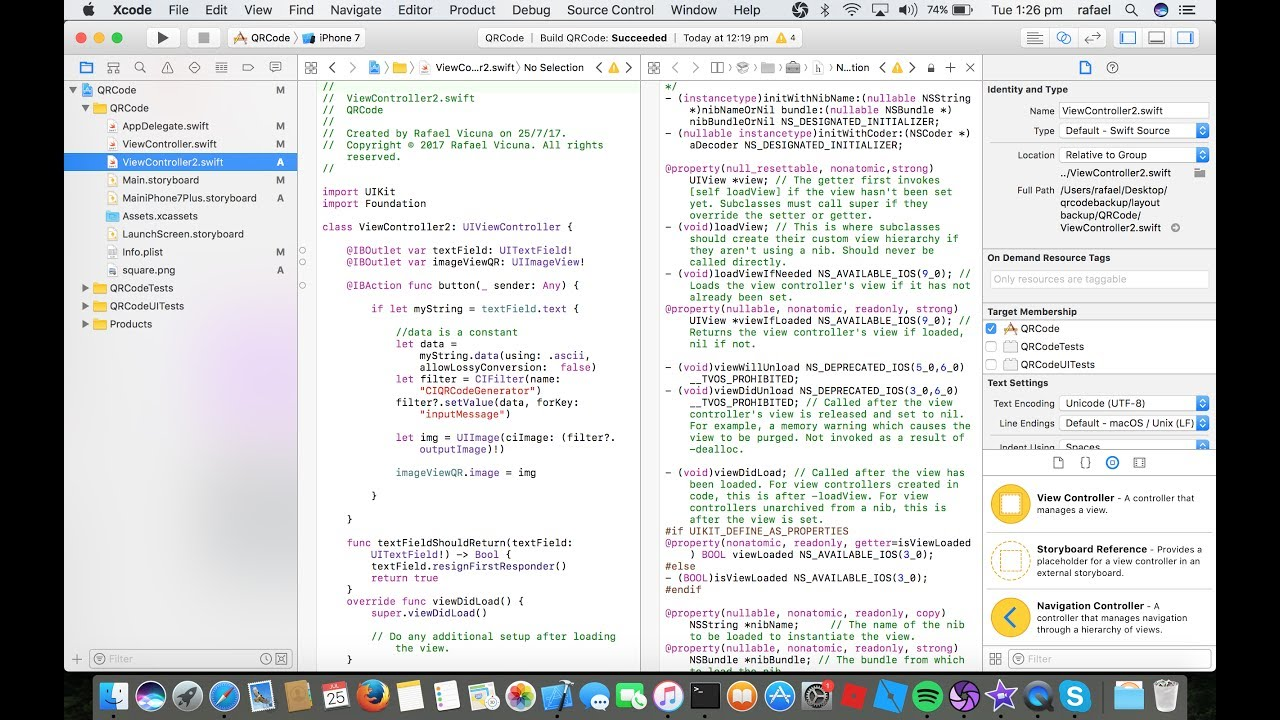How to Make a QR Code Reader Scanner App in Xcode 8 (Swift 3 in Xcode)