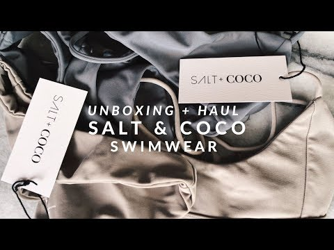 SALT & COCO SWIMWEAR | Essentials Collection Unboxing + Review | JULIA SUH