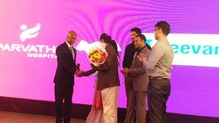 Parvathy Hospital celebrated its 25th Anniversary  Padmashri Dr  Mayil Vahanan Natarajan