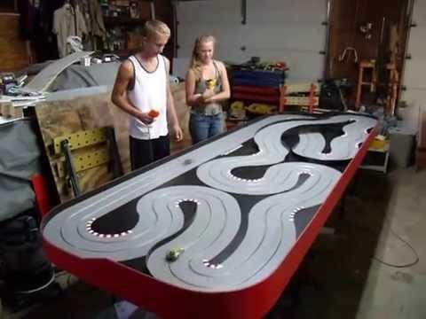 Brad Bowman custom slot car track