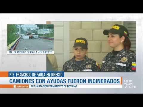 Guardia venezolana quemó ayuda humanitaria en la frontera