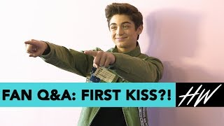 Asher Angel Admits Selena Gomez Is His Celeb Crush and Spills Details On His FIRST KISS! | Hollywire