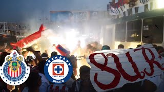 CARAVANA AL ESTADIO CON RAZA SUR IRREVERENTE- CHIVAS VS CRUZ AZUL