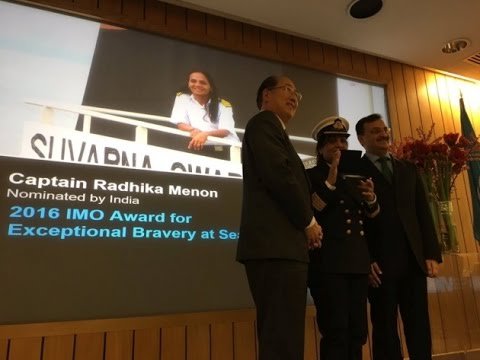 Indian Merchant Navy Captain Radhika Menon, First Woman in the World to Win Bravery at Sea Award