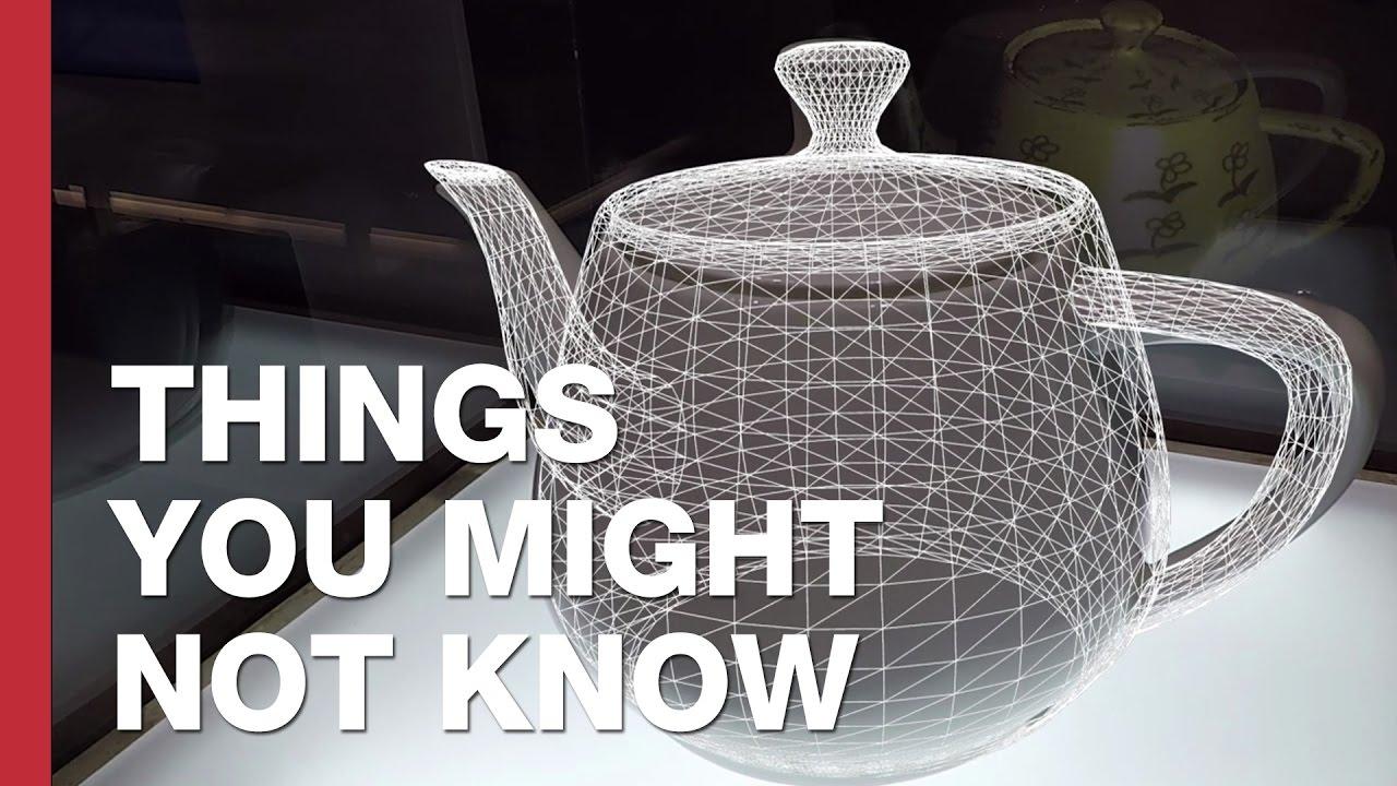 The World S Most Famous Teapot The Utah Teapot Youtube