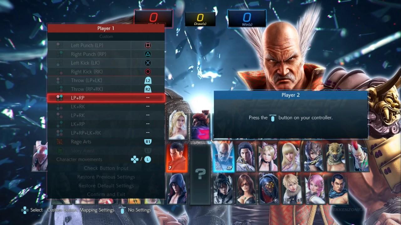 TEKKEN 7 - Controller Setup In Character Select Screen