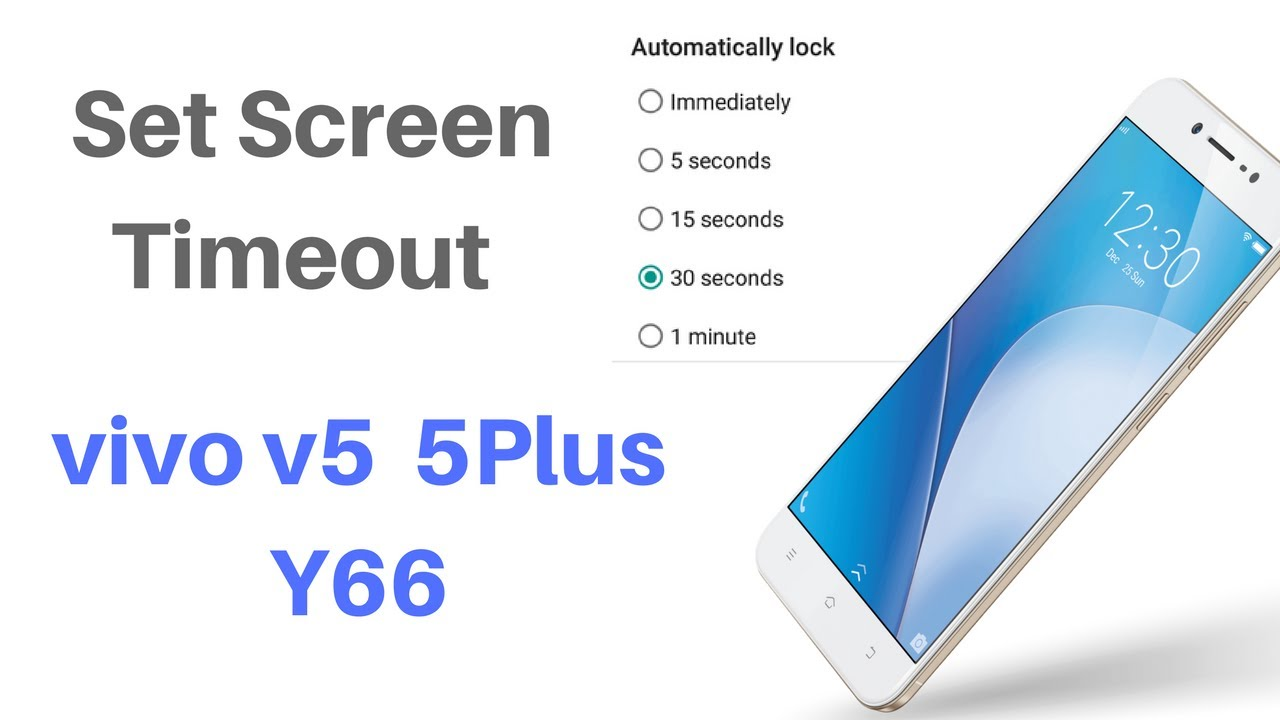 How to set screen timeout on ViVO devices (Funtouch OS)