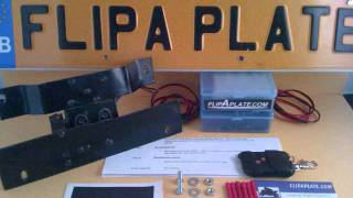 License plate flipper, flip your plate up in less then a second