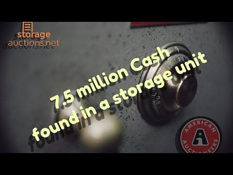 Stacks of Cash 7.5 Million dollars found in a storage auction