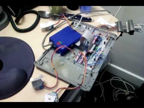 Raspberry Pi controlling 4 stepper motors from GPIO