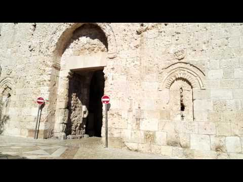 Why there are a lot of holes around Zion Gate? Mount Zion, Jerusalem, Israel?