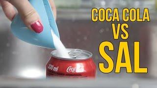 familia para Qué ocurre si mezclas Coca Cola con sal (Experimentos Caseros para niños)