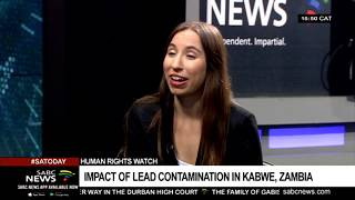Impact of Lead contamination in Zambia: Joanna Naples-Mitchell