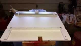 Vblog making an fold down tablesaw outfeed table