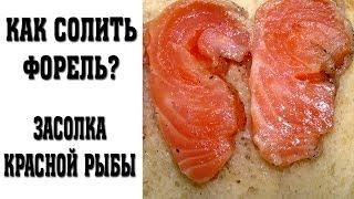 Солим красную рыбу: лосось, форель, семгу. Форель пряного посола.(В этом видео я покажу, как можно засолить форель или любую другую красную рыбу. Процесс засолки занимает..., 2014-06-26T04:30:00.000Z)