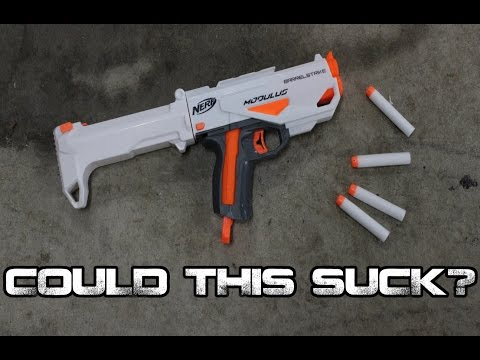 NERF Modulus Barrel Strike Blaster Review+Internals