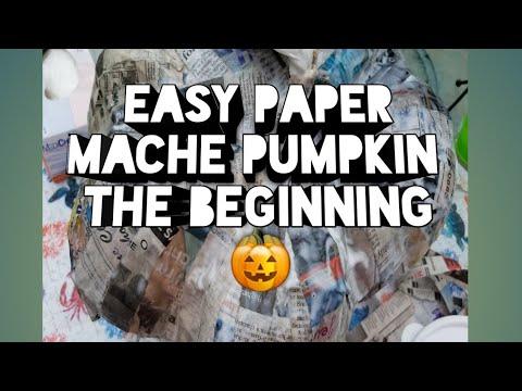 How To Make An Easy Paper Mache Pumpkin | The Beginning | Spooky Halloween Pumpkin