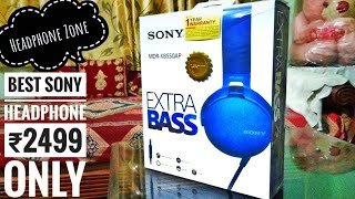 Sony mdr xb 550 AP headphone unboxing. (blue)